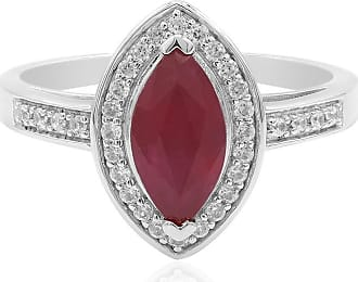 Juwelo Madagaskar Rubin Ring Silber Rubin Schmuck Rubin Rot