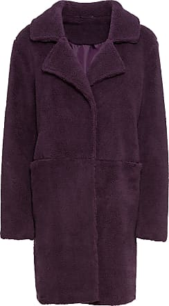 Manteau femme imitation fourrure noir