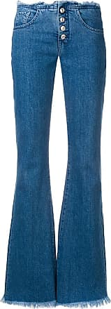 7 For All Mankind frayed edges flared jeans - Blue