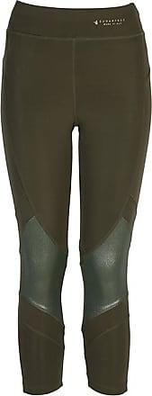 Sugarfree Khaki metallic high rise sport leggings dry-fit