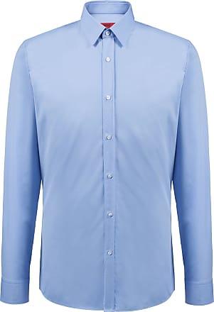 fcc213b55 HUGO BOSS Hugo Boss Extra-slim-fit shirt in cotton poplin 15.5 Light Blue