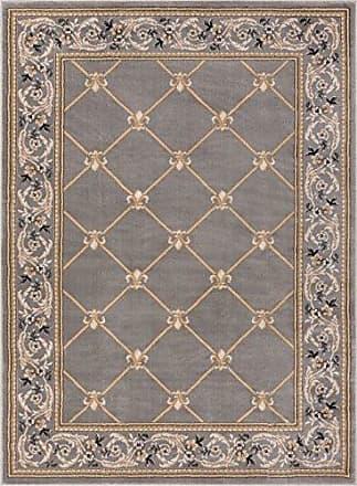 Well Woven 36284 Timeless Fleur De Lis Traditional Area Rug, 311 x 53, Grey
