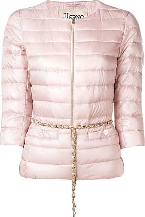 Herno cropped sleeve padded jacket - Pink
