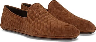 Bottega Veneta Intrecciato Suede Slippers - Brown
