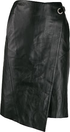 Karl Lagerfeld Saia envelope de couro - Preto