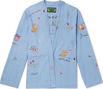 KAPITAL + Bob Marley Embroidered Denim Jacket - Light blue
