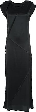 Uma Vestido longo de seda - Preto