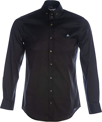 Vivienne Westwood Oxford 2 Button Krall Shirt in Black