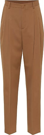 Red Valentino High-rise cotton and wool pants