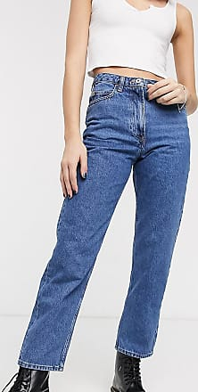 Collusion x006 vintage mom jeans in dark stone wash blue