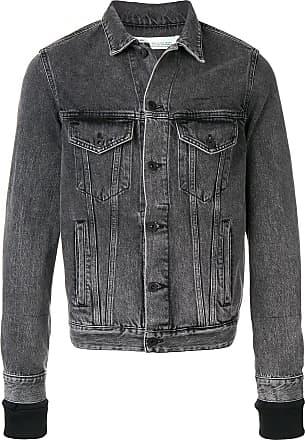 Off-white distressed denim jacket - Grey