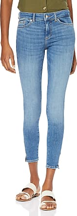 Pieces Womens PCDELLY DLX MW SKN CR LB124-BA/NOOS Skinny Jeans, Blue (Light Blue Denim Light Blue Denim), 8 / XS