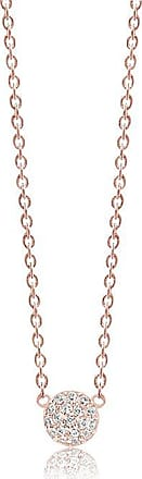 Sif Jakobs Jewellery Necklace Grezzana - 18k rose gold plated with white zirconia