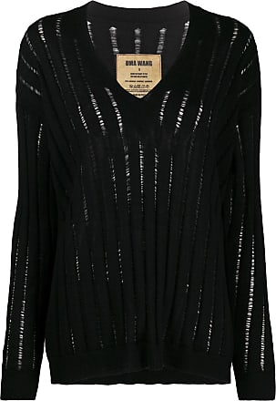 Uma Wang relaxed sheer-knit jumper - Black