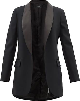 Joseph Clapton Satin-lapel Twill Tuxedo - Womens - Black