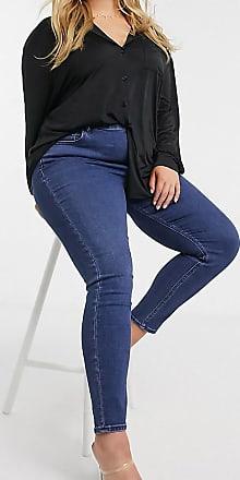 Asos Curve ASOS DESIGN Curve Ridley high waist skinny jeans in indigo wash-Blue