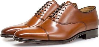 Floris Van Bommel Cognacfarbener Kalbsleder-Schnürschuh, Business Schuhe, Handgefertigt