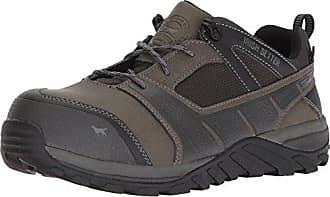 Irish Setter Work Mens Rockford Waterproof Nano-Toe Shoe, Grey/Black, 10.5 D US