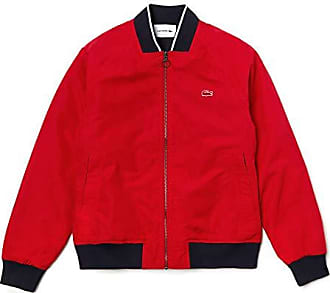 59e61ee1f9 Lacoste BH3330 Blouson, Rouge-Marine 5tv, Large (Taille Fabricant:52)
