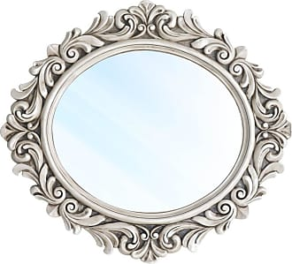 Atelier Clássico Espelho Veneza Clássico em Resina e Pintura em Pátina Branca