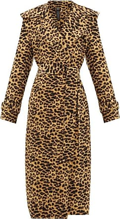 Norma Kamali Double-breasted Leopard-print Trench Coat - Womens - Leopard