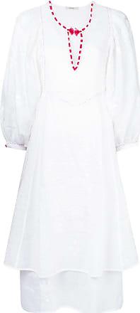 Vita Kin Vestido bordado - Branco