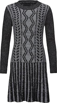 BODYFLIRT boutique Dam Stickad klänning i grå lång ärm - BODYFLIRT boutique 6d0420cf82d69