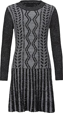 f901019c032e BODYFLIRT boutique Dam Stickad klänning i grå lång ärm - BODYFLIRT boutique