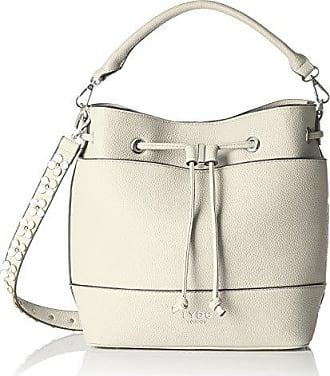 d5c5134b5b LYDC London London G1825, sac bandoulière femme - Blanc - Blanc (White 000)
