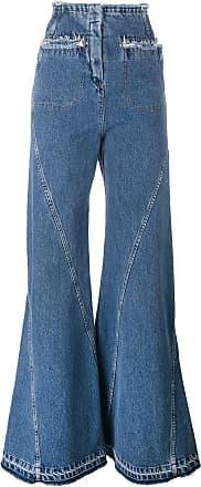 Esteban Cortazar high waisted flared jeans - Blue
