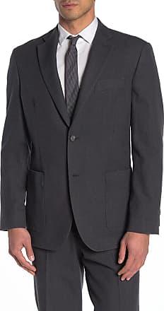 Nordstrom Rack Grey Solid Two Button Notch Lapel Trim Fit Suit Separates Jacket