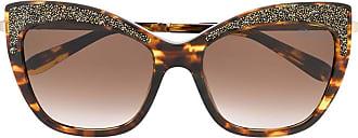 Blumarine Óculos de sol gatinho com aplicações - Dourado