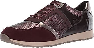 Geox Womens Deynna 6 Snake Print Fashion Sneaker, Dark Burgundy, 36 Medium EU (6 US)