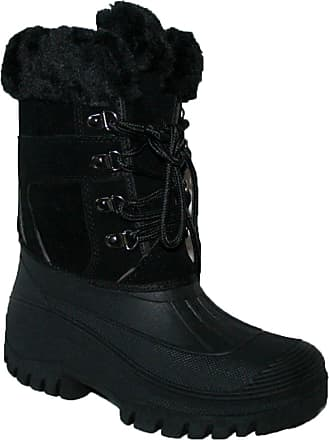 Groundwork Womens Mucker Stable Yard Winter Snow Velcro Boots Wellies Shoes (UK8, Black lace)