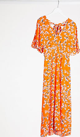 Whistles Zelena printed daisy dress in red