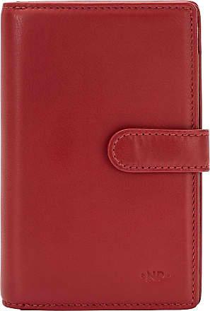 Nuvola Pelle Portafoglio Donna Grande Capacità Organizer in Pelle Multi Scomparti Portamonete e Carte Rosso