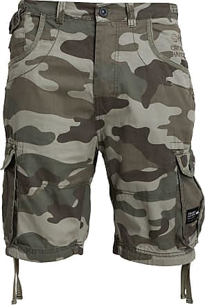 Crosshatch Mens ryehill Shorts, (Olive Camo), W38
