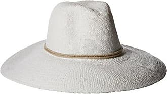 ále by Alessandra Womens Praia Woven Toyo Hat With Contrast Rope Trim, White, One Size