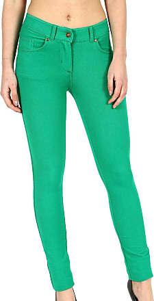 Parsa Fashions Ladies Skinny Fit Coloured Jeggings Womens Strechy Pants (UK 8-26) (16, Jade Green)