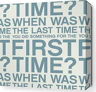 Inhabit First Time Canvas Wall Art White and Chocolate - FTWHCH_1616C
