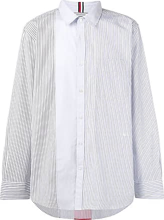5f968482d87c52 Tommy Hilfiger contrast panel striped shirt - White