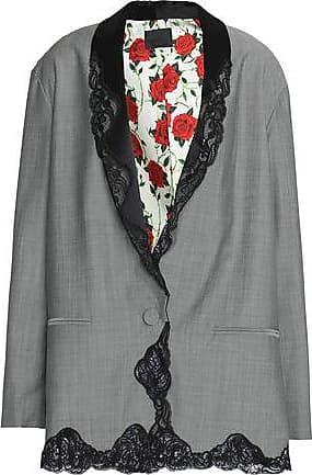 a2094ffa37f8 Alexander Wang Alexander Wang Woman Lace-trimmed Wool-blend Blazer Gray  Size 4
