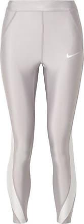 abfe2255fceee Nike Speed Cropped Paneled Metallic Dri-fit Stretch Leggings - Silver