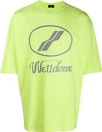 We11done Camiseta oversized com estampa de logo - Amarelo
