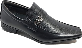 Calvest Sapato Social Calvest Em Couro Metal Com Textura - Preto - 42