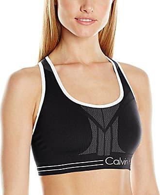 1f2964f2e8f7 Calvin Klein Performance Womens Medium Impact Reversible Bra Top,  Black/White, M