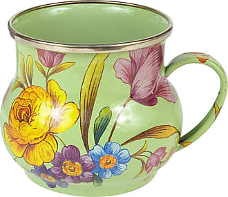 MacKenzie-Childs Flower Market Enamel Mug - Green