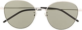 Saint Laurent Eyewear Óculos de sol redondo - Prateado