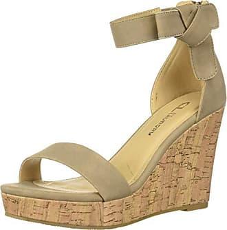 69f2743255 Chinese Laundry Womens Blisse Wedge Sandal, Taupe Nubuck, 9 M US