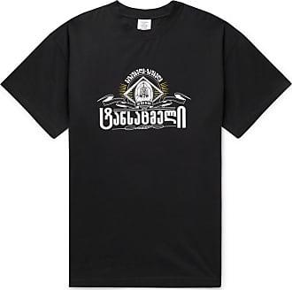 VETEMENTS Oversized Printed Stretch-cotton Jersey T-shirt - Black